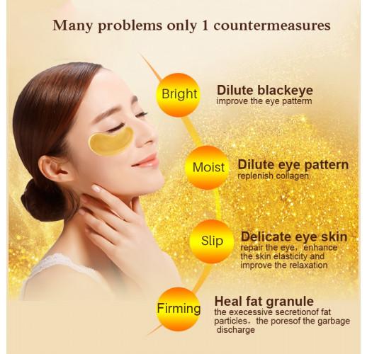 Gold Crystal Collagen Eye Mask