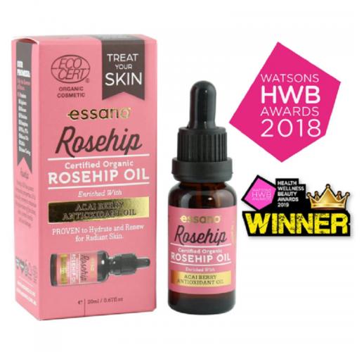 Essano Certified Organic Rosehip Oil 20ml